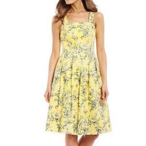 Alex Marie Whitney Pleated Floral Midi Dress Sz 18